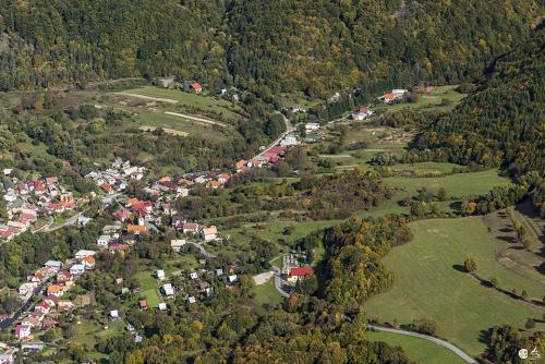 Letecké fotografie obce Železná Breznica